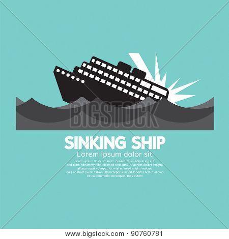 Sinking Ship Black Graphic.