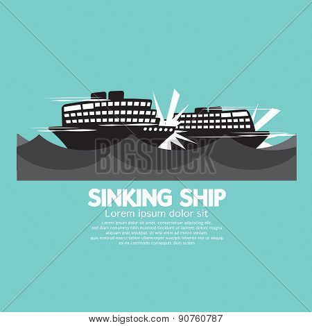 Sinking Ships Black Graphic.