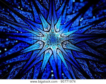 Blue Glowing Magic Star