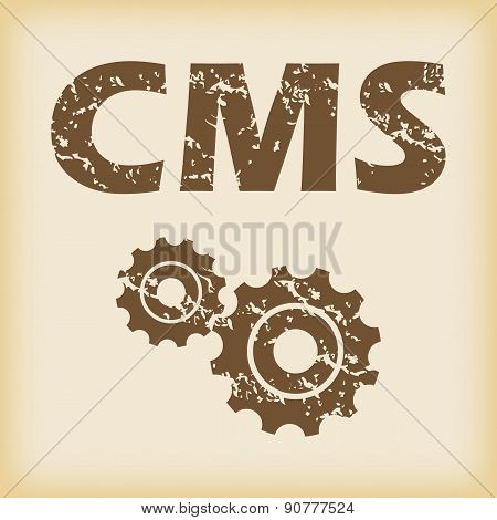 Grungy CMS settings icon