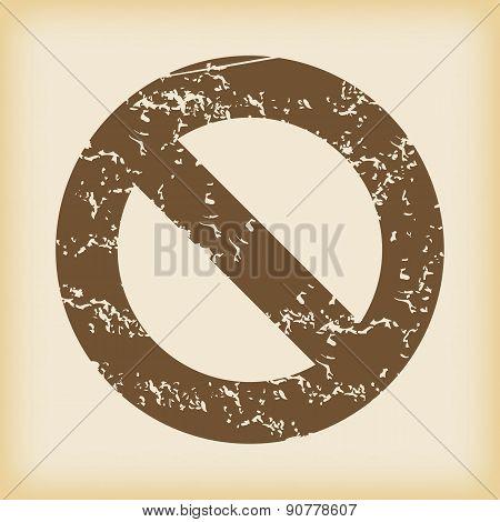 Grungy NO icon