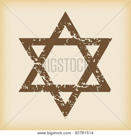 Grungy Star of David icon