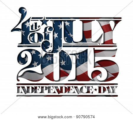 4Th Of July Cut-out 2015 Independance Day