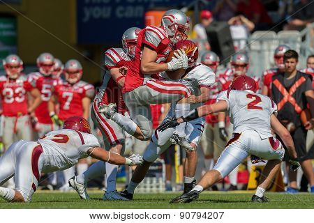 VIENNA, AUSTRIA - MAY 26, 2014: RB Florian Pos(#26 Austria) runs with the ball.