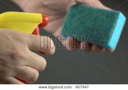 Solvent Spraying