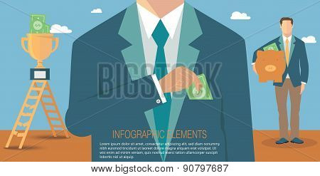 Financial concept, corruption and bribery in business concept poster