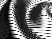 Aluminum abstract silver wave pattern background 3d illustration poster