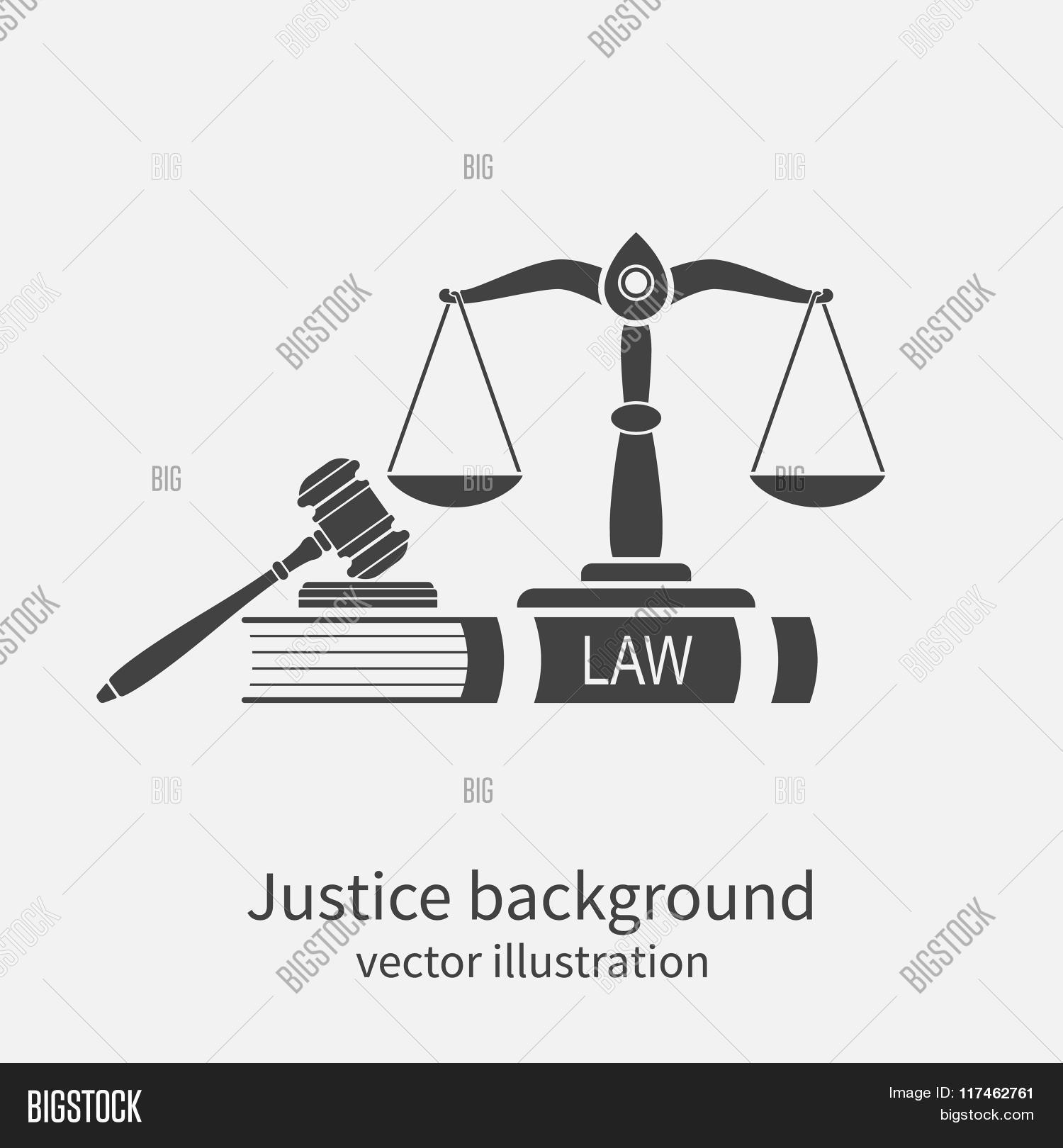 Symbol Law Justice Vector Photo Free Trial Bigstock