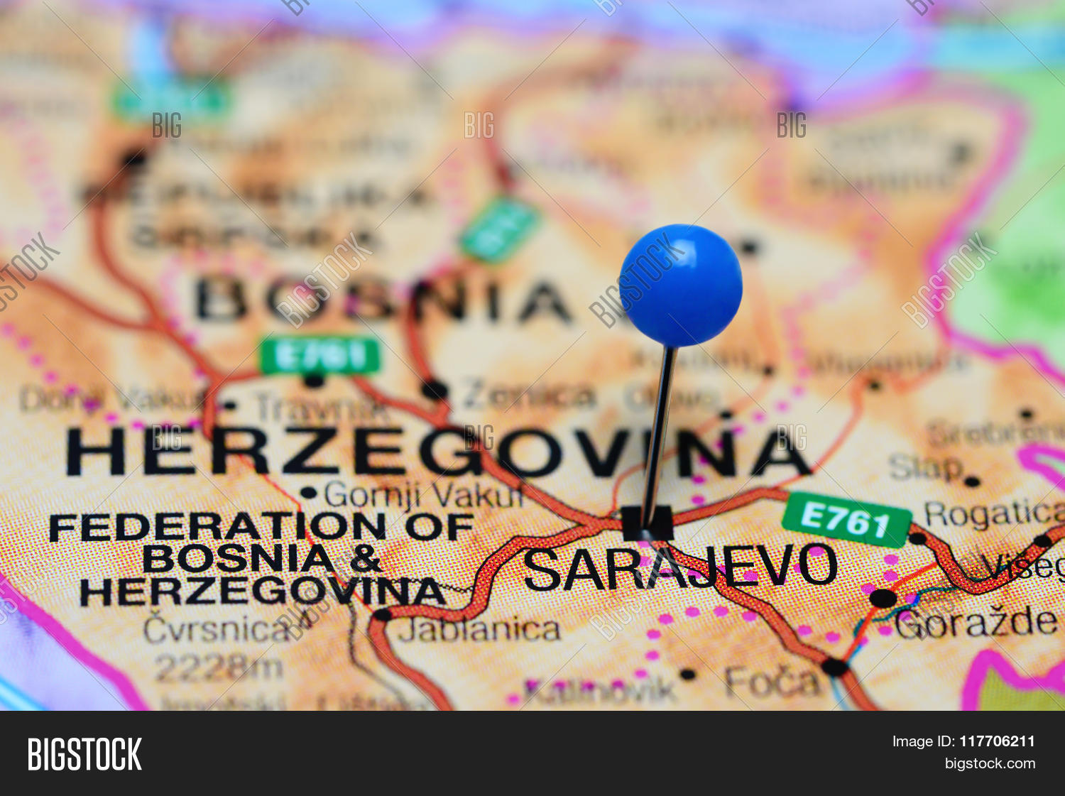 Sarajevo Pinned On Map Image & Photo (Free Trial) | Bigstock on vienna on map, serbia on map, skopje on map, belgrade on map, belfast on map, stockholm on map, budapest on map, warsaw on map, prague on map, tallinn on map, sofia on map, rome on map, dardanelles on map, western front on map, oslo on map, constantinople on map, zagreb on map, moscow on map, bosnia on map, london on map,