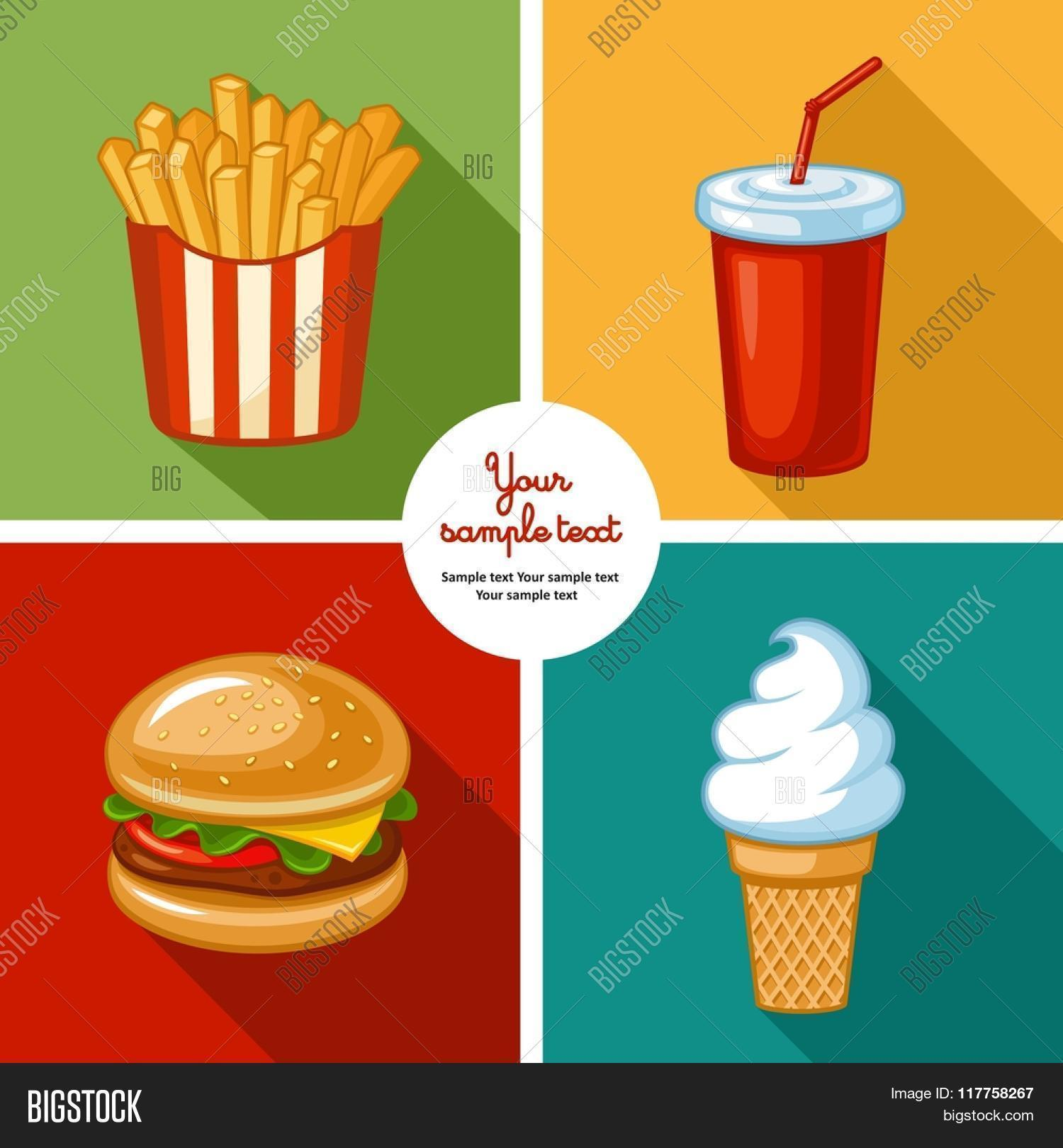 Junk Food Icon Design Vector Photo Free Trial Bigstock