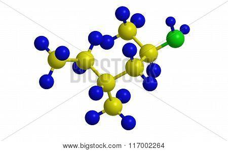 Methylhexanamine (forthane) - Molecular Structure