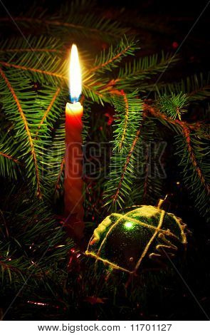 Candle And Decoration Ball
