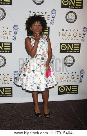 LOS ANGELES - FEB 4:  Trinitee Stokes at the Non-Televised 47TH NAACP Image Awards at the Pasadena Conference Center on February 4, 2016 in Pasadena, CA