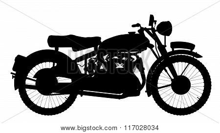 Motor Cycle Silhouette