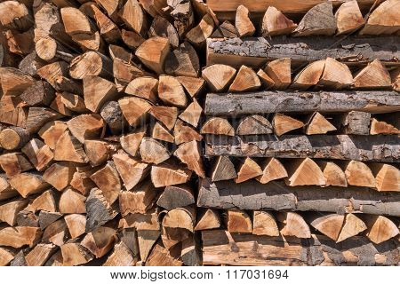 Pattern of stacked firewood