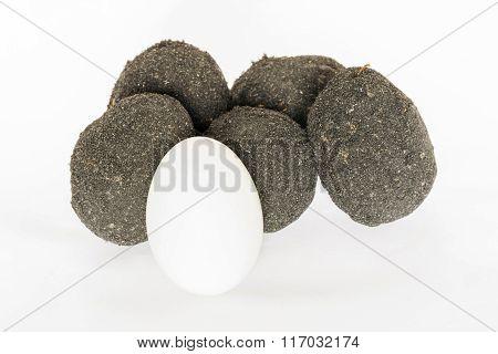 Salted Egg On White Background