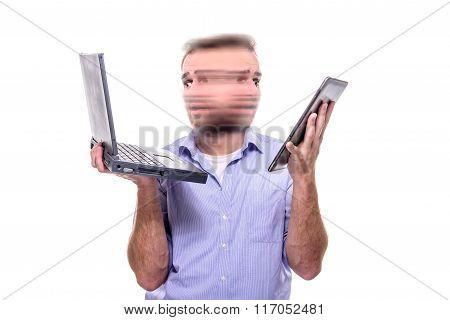 Multitasking Of A Businessman