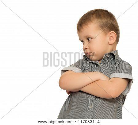 Strict the little boy
