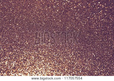 Abstract Defocused Lights, Sparkling Holiday Bokeh Background With Golden Tones