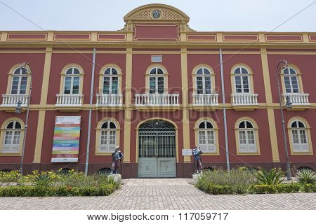 Palacete Provincial (provincial Manor House) In Manaus, Brazil