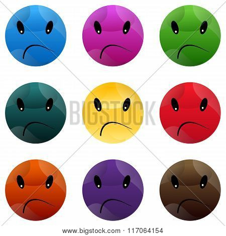 Face smiley smile emoticon big vector cartoon icon yellow laugh.
