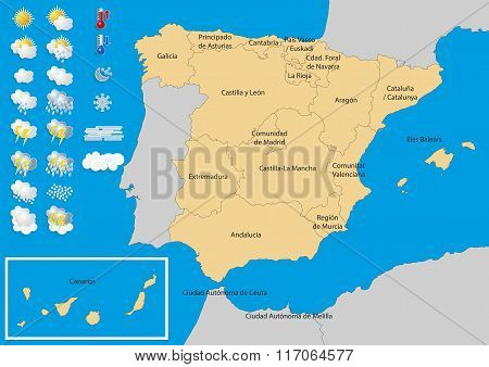 Spain Map Weather