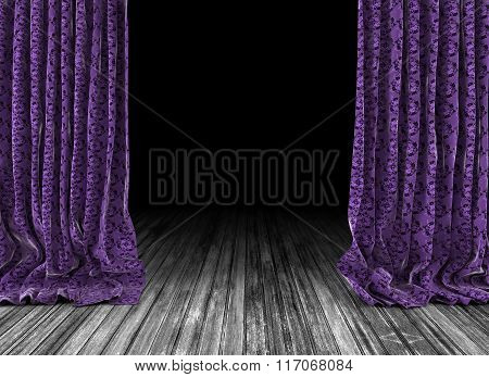 Old theater curtains background