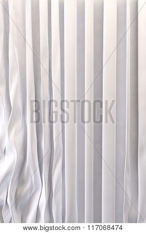 White silk curtains background
