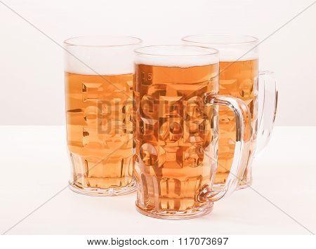 Retro Looking Lager Beer