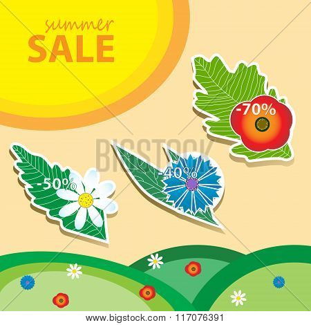 Summer sale pricetags