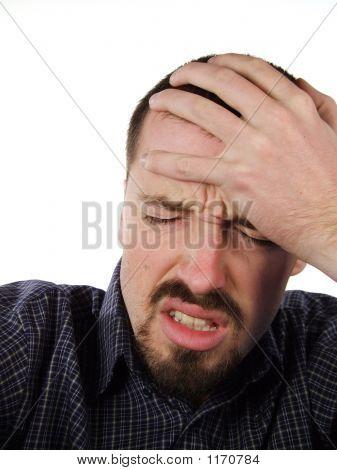 Terrible Headache - Suffering Male Portrait