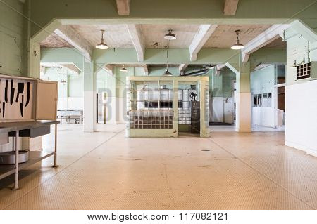 Interior views of the Alcatraz Island in San Francisco