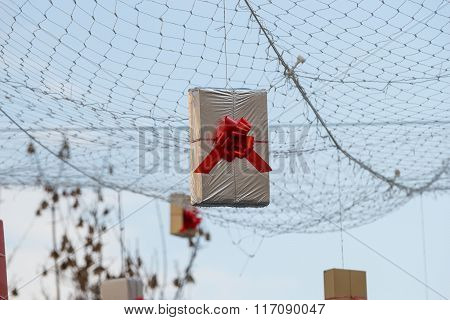 Hung Gift Boxes As Street Decoration 7