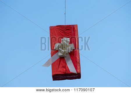 Hung Gift Boxes As Street Decoration 6
