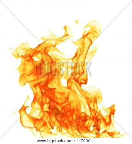 Fire Flame On White