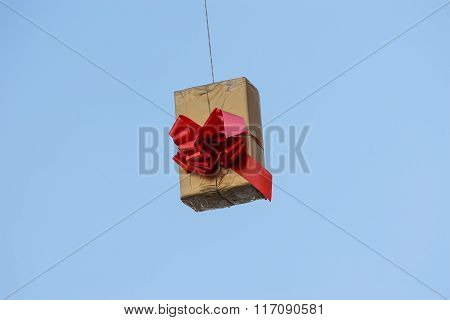 Hung Gift Boxes As Street Decoration 2