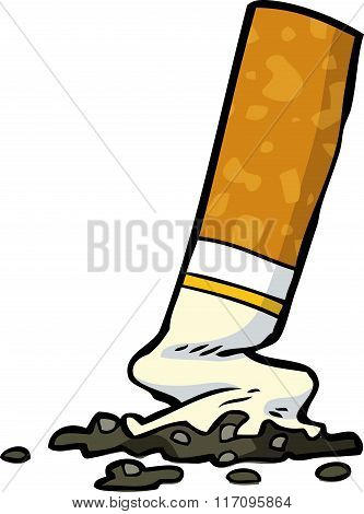 Cartoon Cigarette Butt