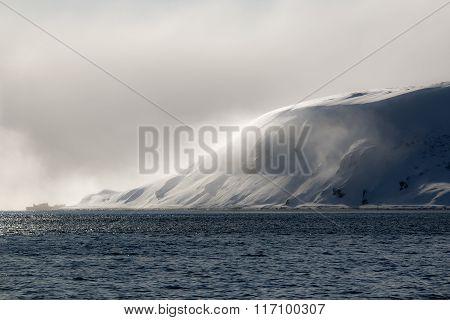 snowstorm on the sea Cape