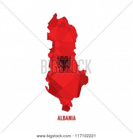 Map Of Albania.