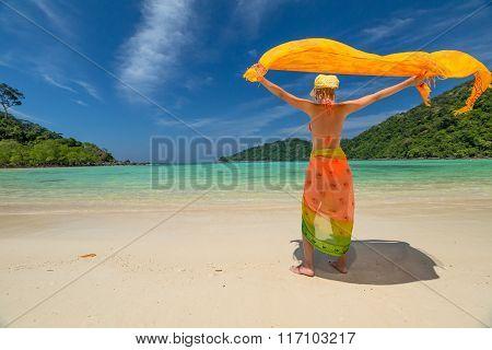 Woman with sarong