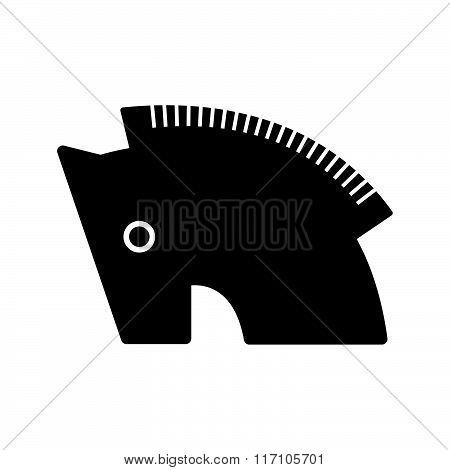 Trojan horse symbol icon black vector design black color support eps10.