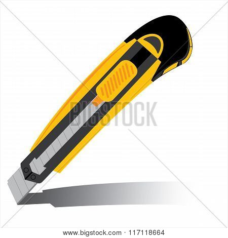 Cutter isolated on white background. Yellow cutter vector isolated on white background.