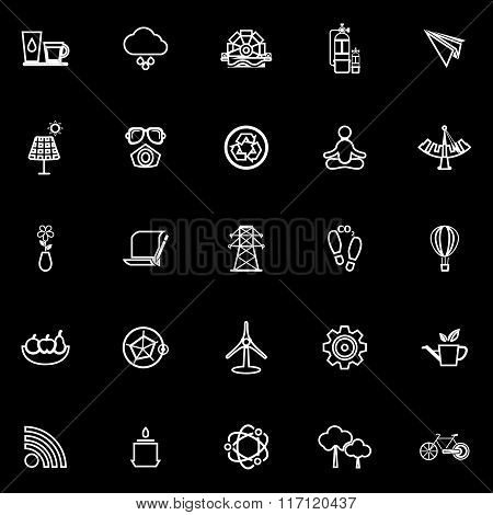 Clean Concept Line Icons On Black Background