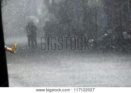 Foot In The Rain