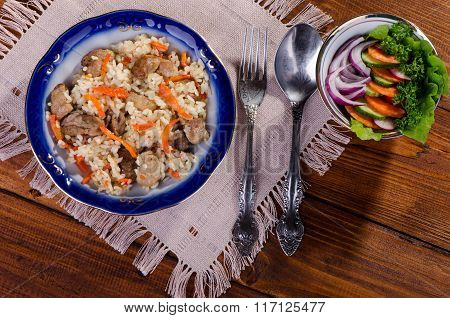 Pilau - Rice With Meat And Vegetables