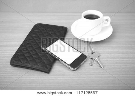 Coffee Phone Key And Wallet