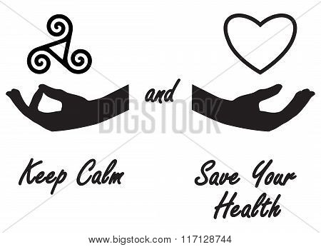Keep calm and save your health stickers