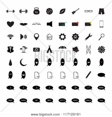 B&W set of the black icons for your site