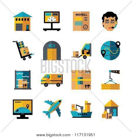Logistics Color Icons Set
