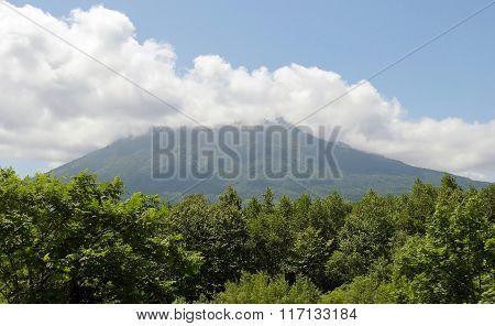 Mountain Izola in region of the resort Rusutsu. Japan, Hokkaido